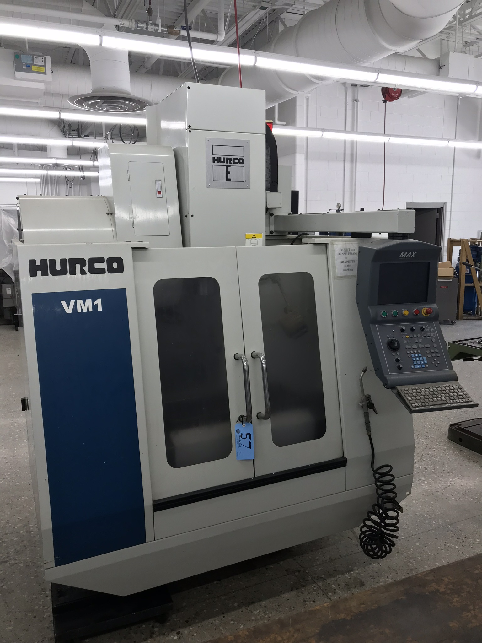 Hurco VM-1 CNC Vertical Machining Center, Spindle Recently Replaced, Approx 6,800 Hours, Max Control