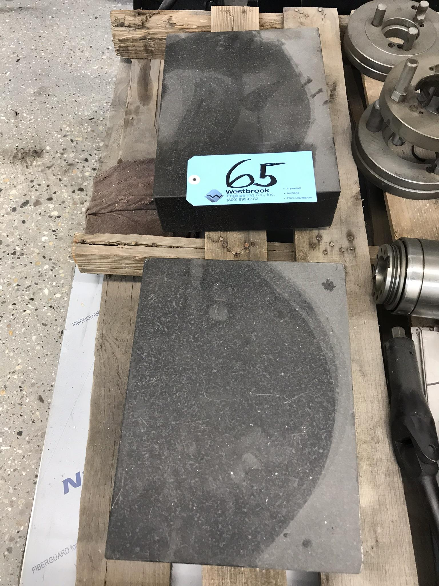 "(2) 12"" x 9"" x 3"" Black Granite Surface Plates"
