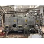 Cherry Burrell 1,000 Gallon Jacketed Stainless Steel Tank, Agitated, Model 74E61 | Rig $ See Desc