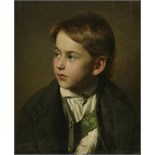 Lot 240 - Ludwig Streitenfeld (Austrian, 1849-1930)PORTRAIT OF A BOY, HALF LENGTHSigned and dated 1870 l.l.,