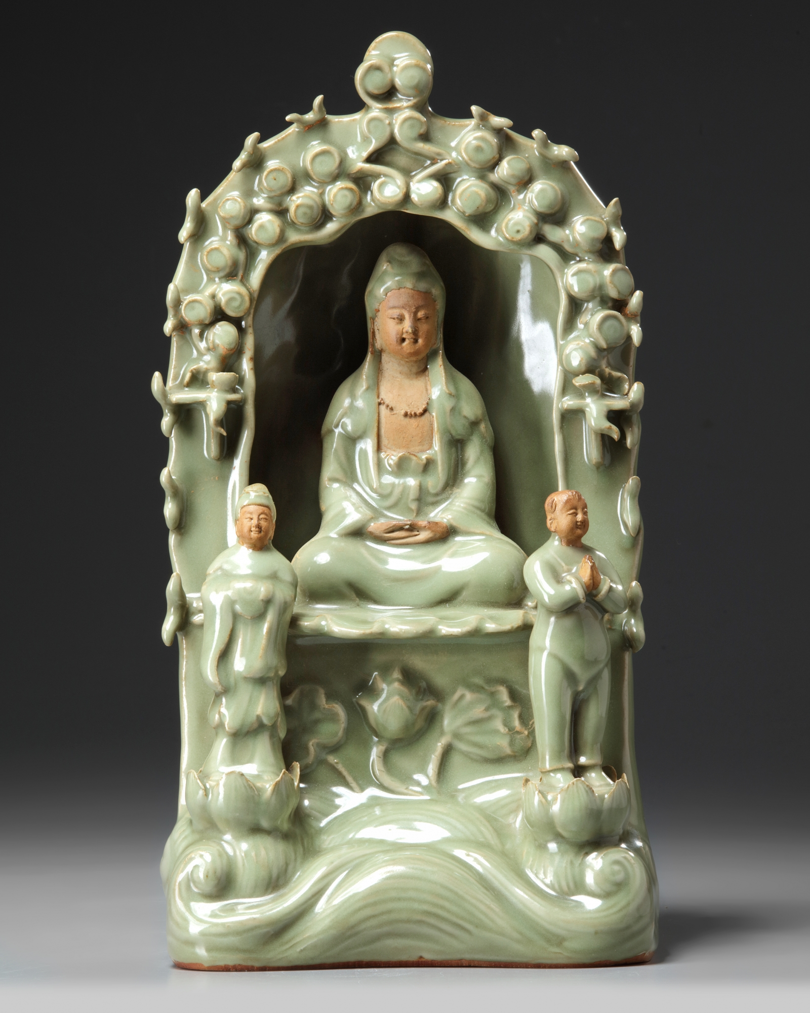 A Chinese Longquan celadon glazed grotto