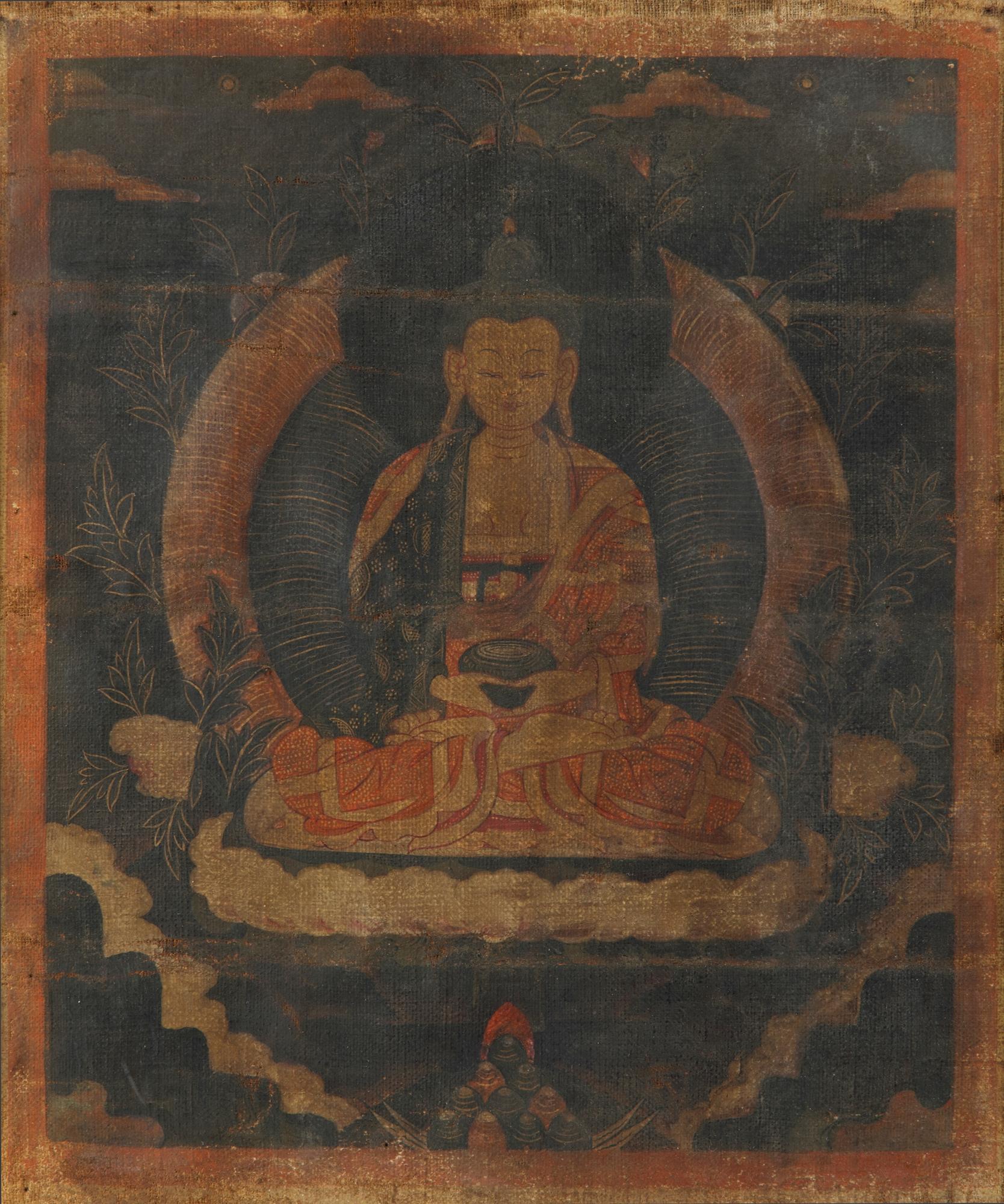 Los 60 - A Tibetan thangka of Shakyamuni
