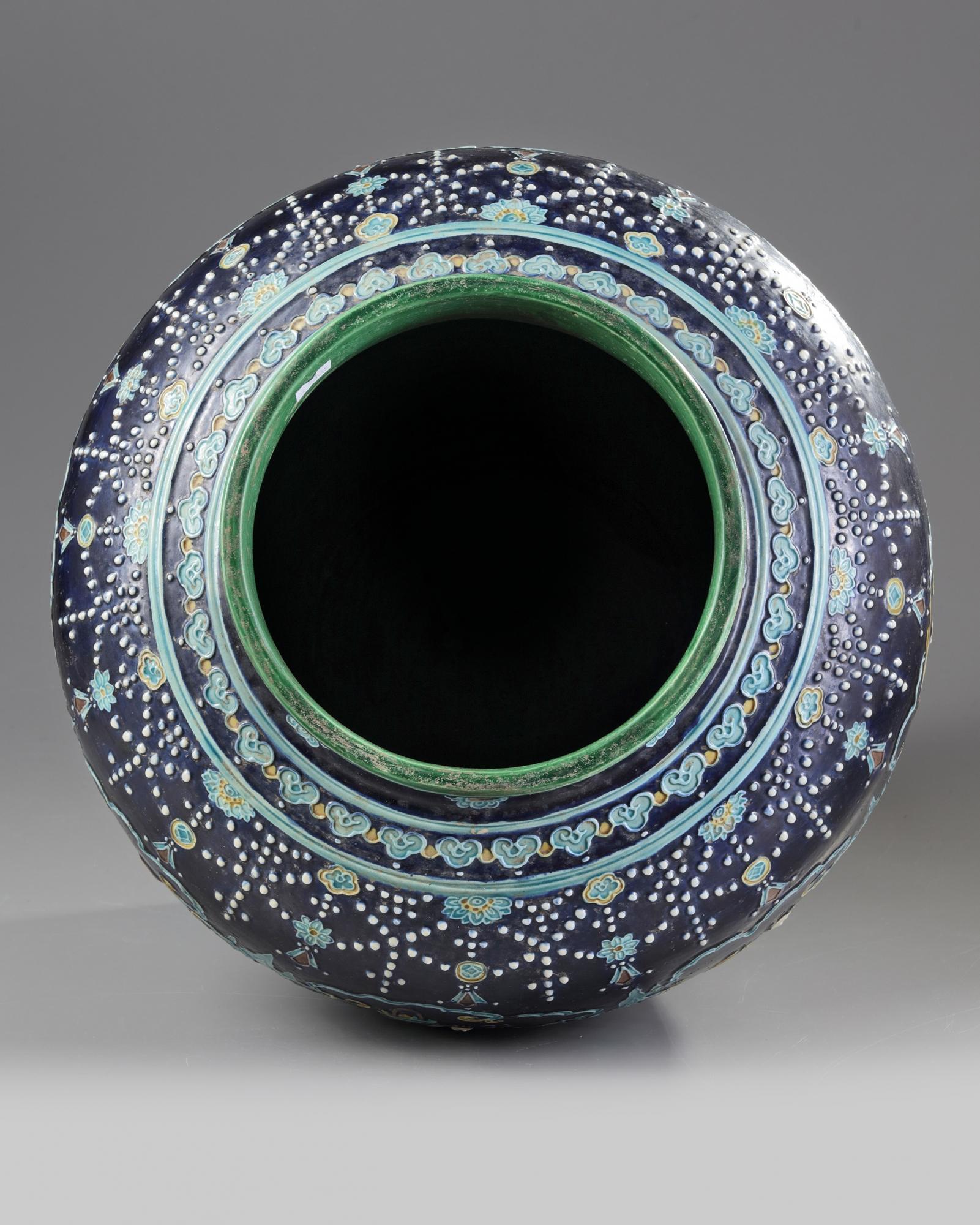 Lot 56 - A Chinese fahua 'Eight Immortals' jar