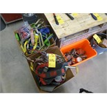 [5286] (3 boxes) misc. high-work safety straps, harnesses, retractable lifelines, etc.