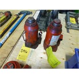 [5196] (2) hydraulic jacks, 20 ton