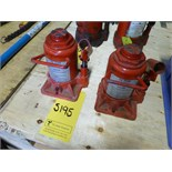 [5195] (2) hydraulic jacks, 12 ton