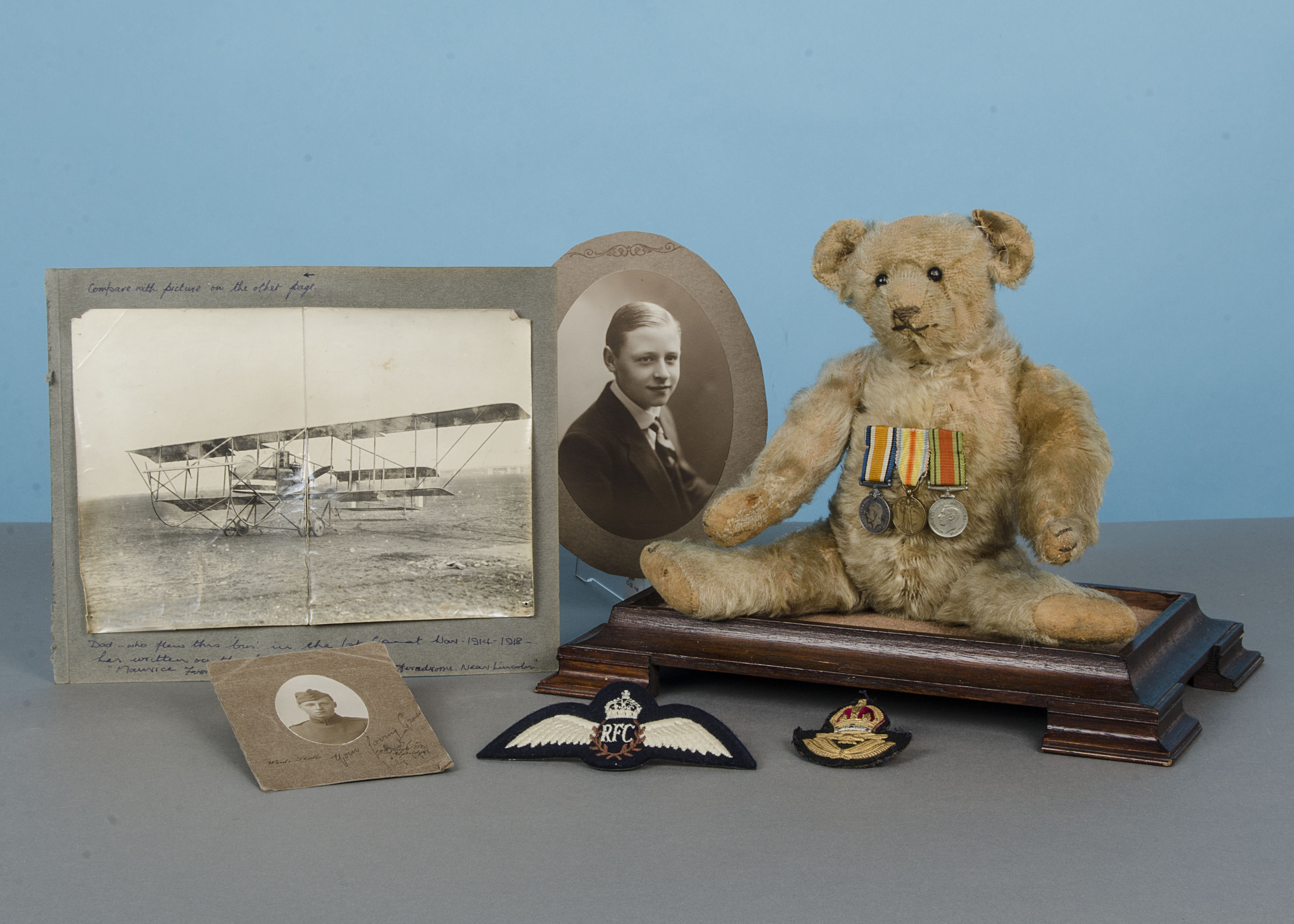 Lot 245 - 'Squadron Leader Ted', Captain S H (Bert) Moy's historically-interesting mascot from the 1st World