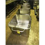 Stainless Steel Dump Buggies, 400 LB capacity, rolled lip, handle