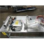 "Vemag Stuffer Attachments, Guillotine cutter, Pneumatic pump, 3"" Dia. outlet & 2"" Dia. Outlet,"