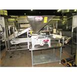 "Hinds Bock Mdl. 4P-08N Bakery Depositor, setup with 4 Up mold, 2"" Dia. push rods, with additional"
