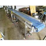 "Portable Conveyor, 12"" W x 16' L Plastic Belt, 3/4 h.p., 460 volts"