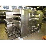 "Lincoln Double Deck, 4 conveyor Impingement Oven, 32"" W X 106"" L, stainless steel ladder chain"
