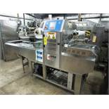 "ILPRA Mdl. Speedy PN12WG 2 up Tray Sealer, 5"" W X 6 1/2""L cavities 17"" W X 9'L conveyor, touchscreen"