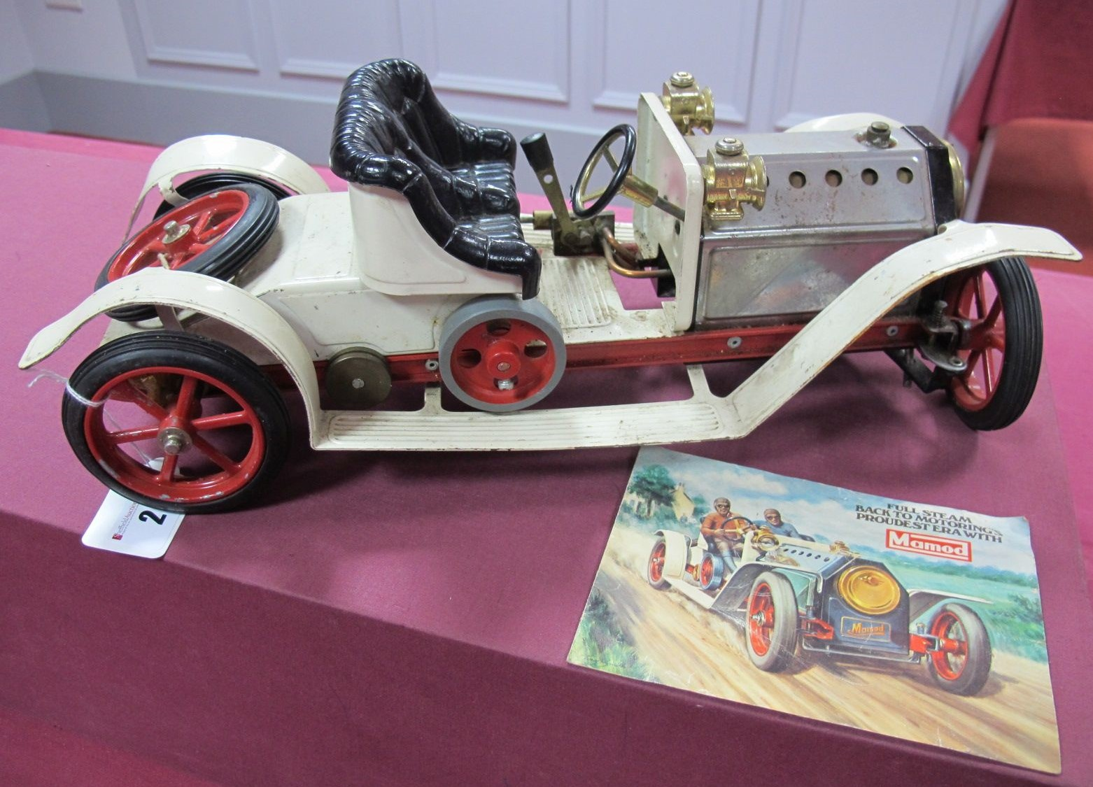 Lot 2 - A Mamod Live Steam Model SA1 Roadster, has been steamed, playworn, spares or repair.