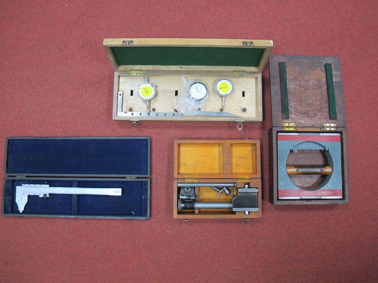 Lot 29 - Engineers Measuring Equipment, including a Benson 28cm (plus imperial) vernier, three dial