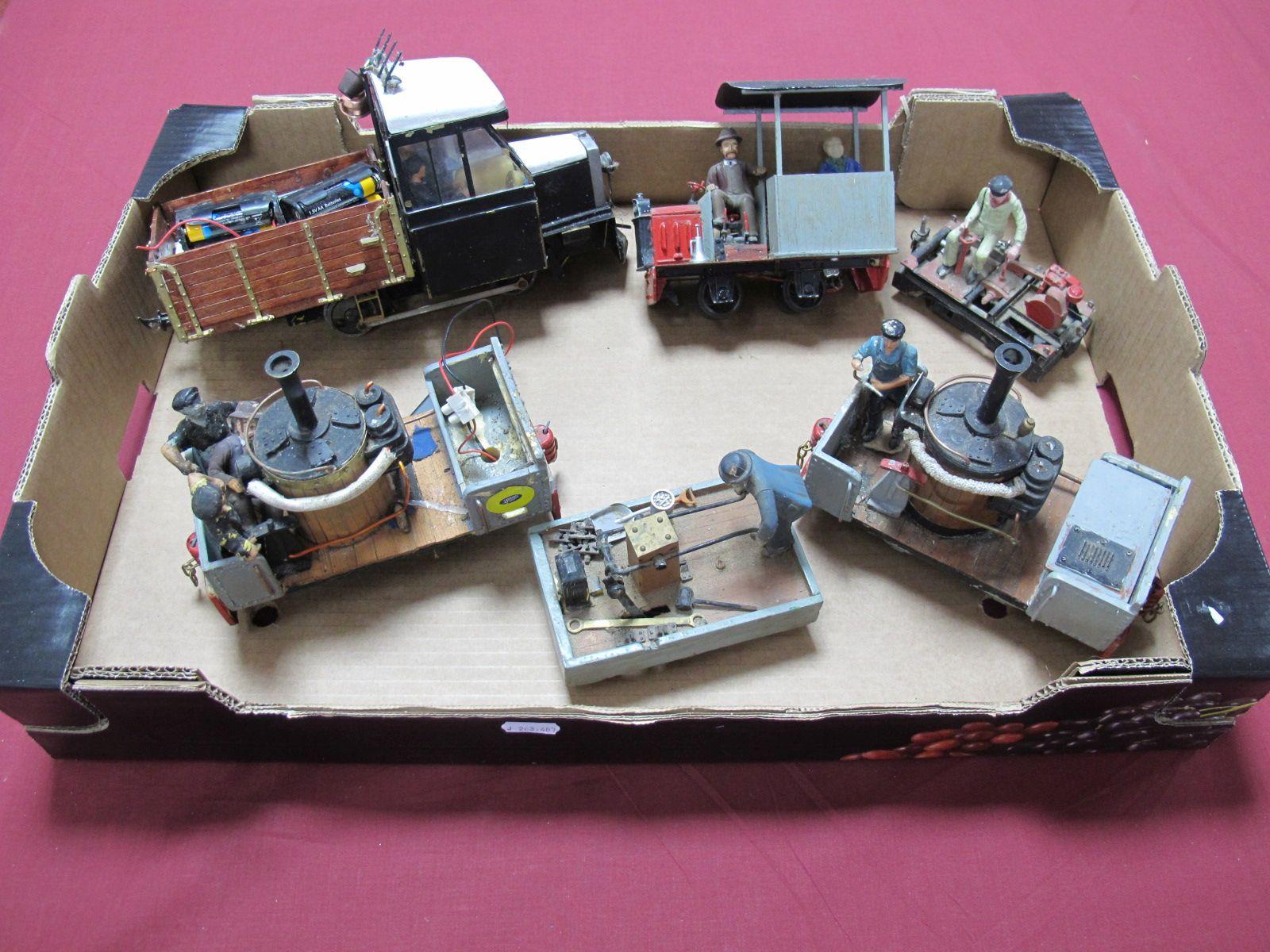 Lot 58 - Six Unusual Handbuilt 'G' Gauge/Narrow Gauge Motor Driven Electric/Battery Powered Adapted