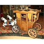 Carriage with horses from a carousel