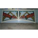 Decorative panels of a dodgem car ridetotal of 17 panels