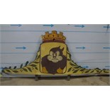 Cartoon painted rounding boards.Set of 12