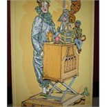 PanelClown with monkey organ