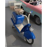 Blue carousel scooter