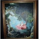Animated painting The Swing by Fragonard