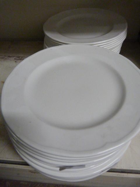 Lot 15 - *Forty White Dinner Plates