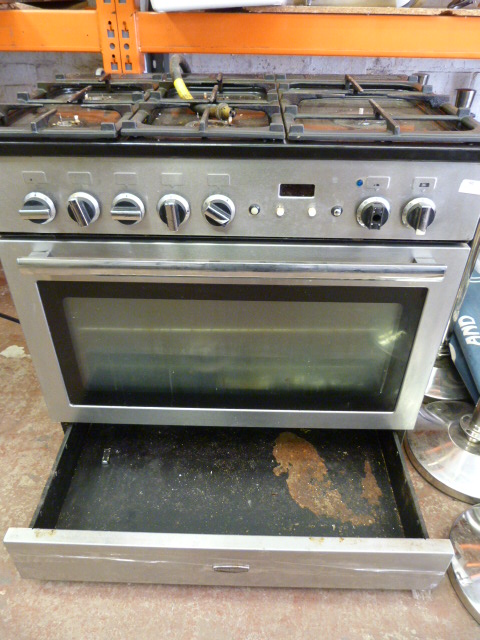 Lot 60 - *Rangemaster Five Burner Gas Hob over Oven