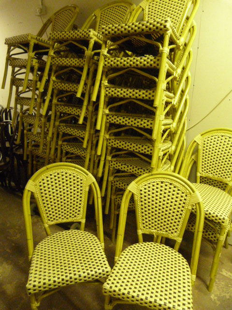 Lot 1 - *Twenty Eight Stackable Cane Chairs