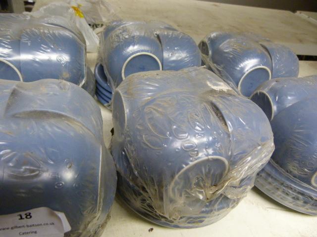 Lot 18 - Twenty Blue Cups & Saucers