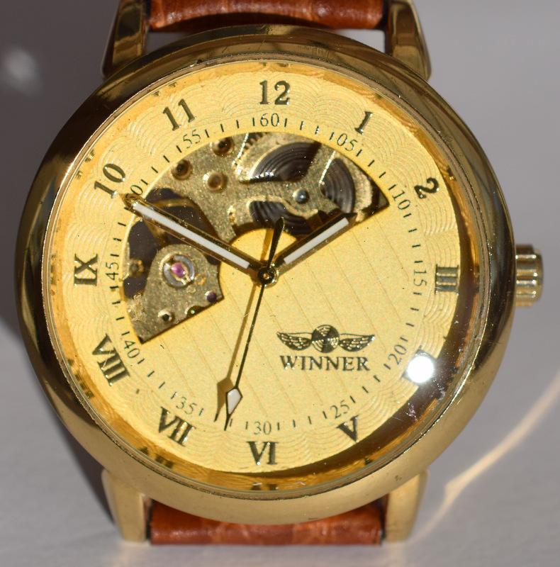 Lot 21 - Winner Half Skeleton Wristwatch