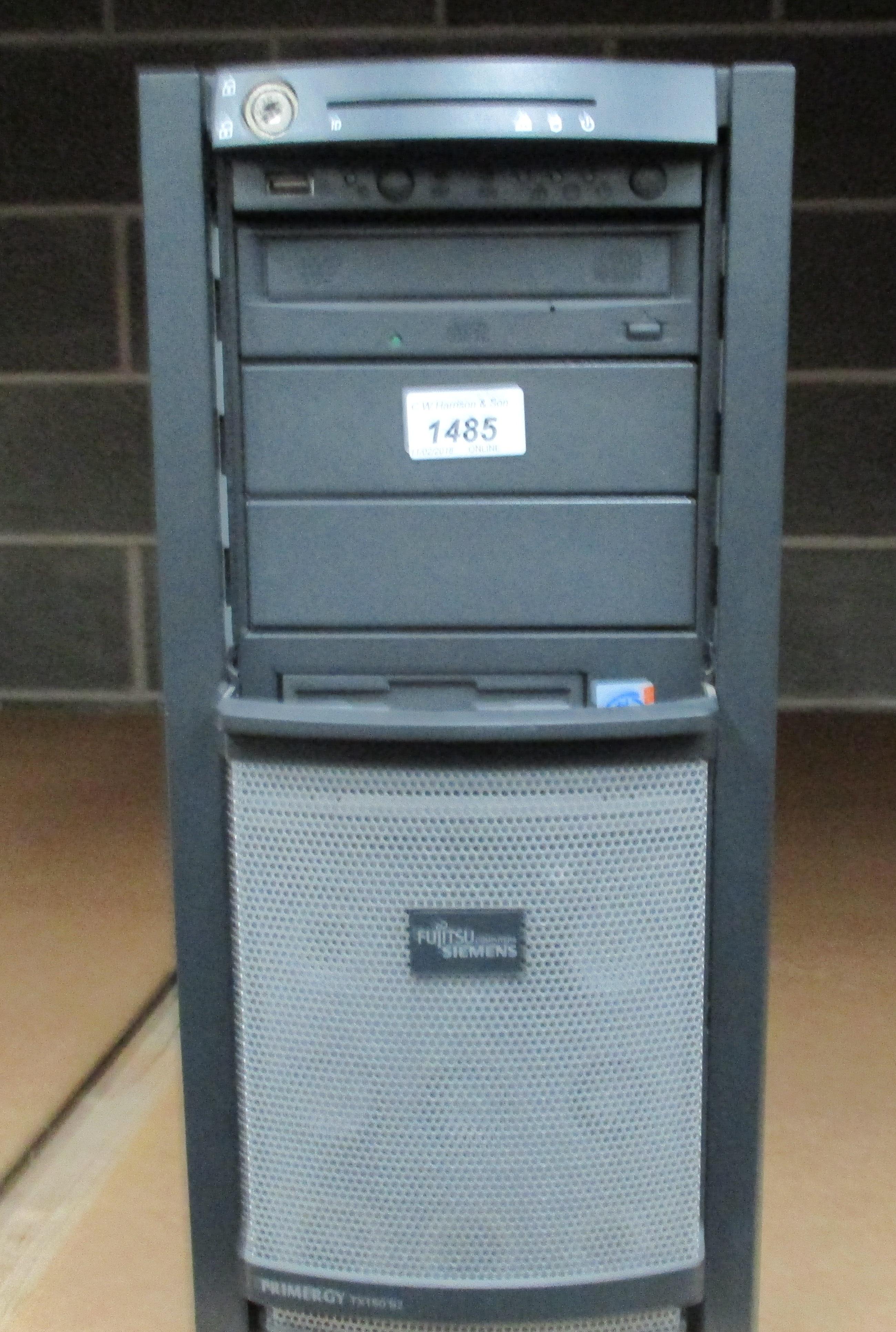 Lot 1485 - A Fujitsu Siemens tower server - no power lead