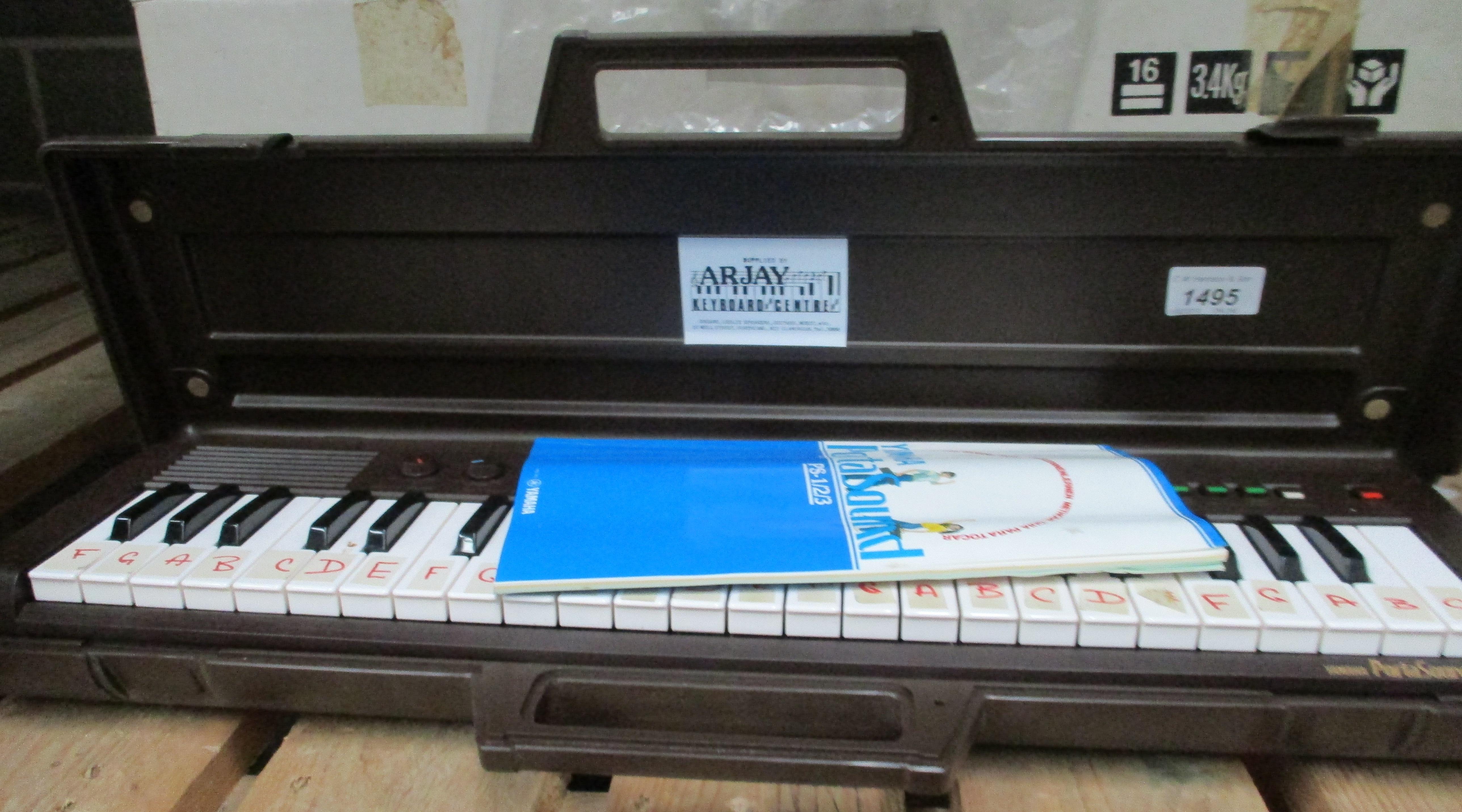 Lot 1495 - A Yamaha Portasound electronic keyboard
