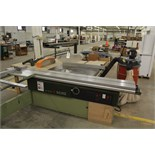 """SCMI 16"""" Sliding Table Table Saw, M# S116 WA, W/ Dust Collector 