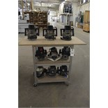 Lot of (9) Routers, W/ Cart | Rigging Price: Hand Carry or Contact Rigger