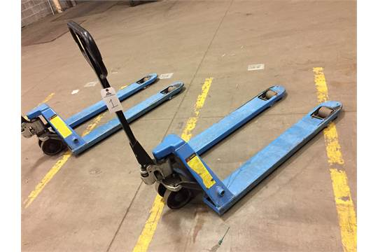 Two (2) ULine H-3763 Pallet Jacks