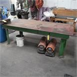 4 Ft. x 8 Ft. Steel Work Table w/6 in. Bridgeport Machine Vise