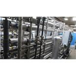 LOT: RO Filter System, (6) 8 in. Membrane Vessels w/(6) Membranes Each, Shelco Cartridge, SS Pre-Fil