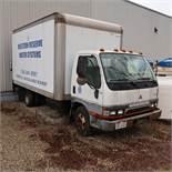 2001 Mitsubishi Fuso 14 Ft. Box Truck, Diesel, Tommy Lift Gate, 175,401 Miles, 5-Speed Manual Transm