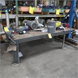 4 Ft. x 8 Ft. Heavy Duty Steel Work Table w/6 in. Vise (Table Only)