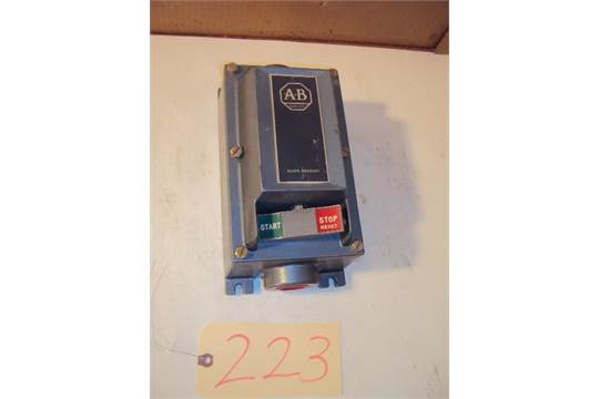 Allen bradley 609 aew hazardous location manual motor for Hazardous location motor starter