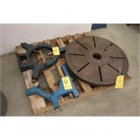 "36"" Rotary Chuck w/ (2) Assorted Steady Rests"