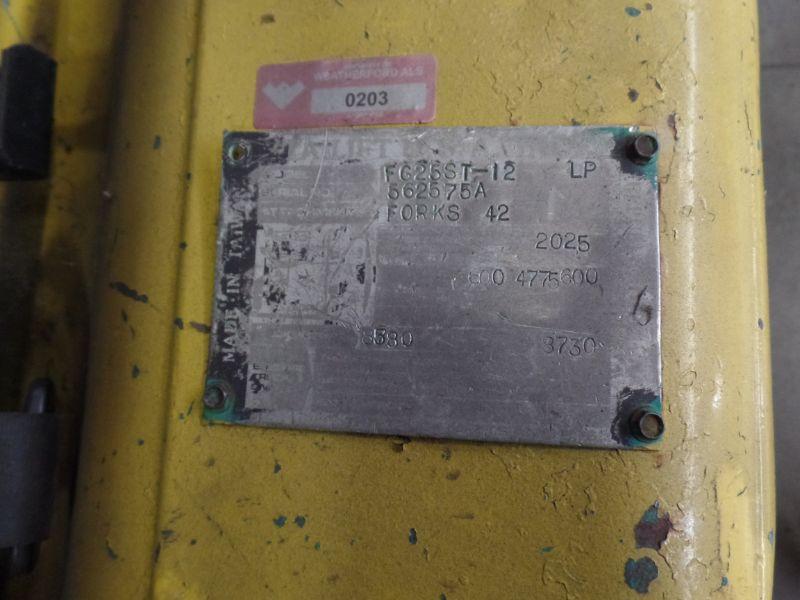 Komatsu FG25ST-12 5000lbs Cap. LPG Forklift, s/n 562575A - Image 4 of 4