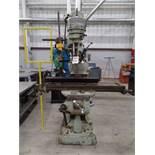 "Bridgeport J Head Mill, 9"" x 42"" Table, s/n175100"