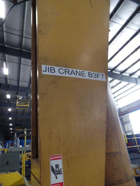 1 Ton Gorbel Jib Crane RM Loadmate 1 Ton Hoist - Image 3 of 4