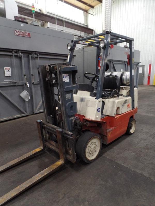 Nissan 40 Optimum Forklift, s/n CPJ02-2P7323?, 24,042 hrs. - Image 3 of 5