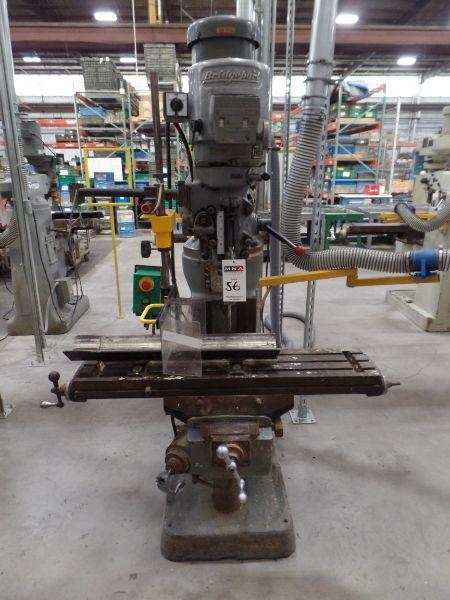 "Bridgeport J Head Mill, 9"" x 42"" Table, s/n1784067"