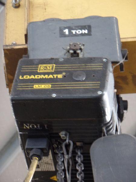 1 Ton Gorbel Jib Crane RM Loadmate 1 Ton Hoist - Image 3 of 5