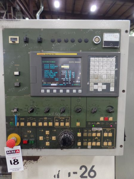 """Fortune Vturn-26, Fanuc 0i-TC, 20.5"""" SW, 15"""" Max. Turn Dia. x 25.6"""" Centers, 3.4"""" Spindle Bore, - Image 6 of 8"""