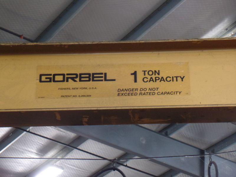 1 Ton Gorbel Jib Crane RM Loadmate 1 Ton Hoist - Image 2 of 5